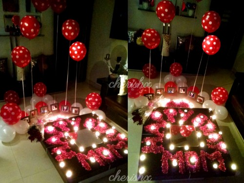 A midnight surprise for mom's birthday.