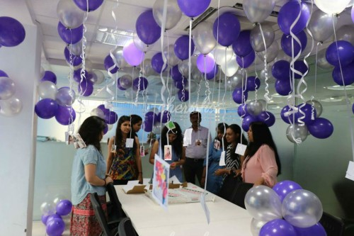 Balloon Decoration with Ribbons in Bangalore