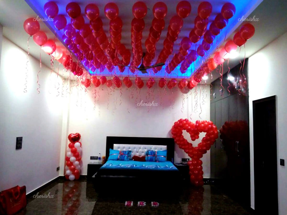 Cupid Decor Romantic Balloon Decoration at Home in Delhi NCR