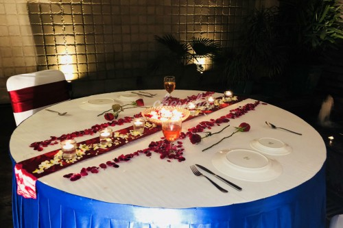 Private Candlelight dinner by waterfall