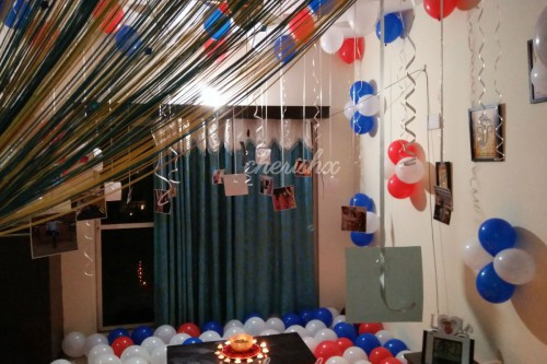 CherishX's Balloon decoration consists of different colored balloons to make your celebrations bright and beautiful.