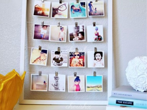 A string of photos aligned in the perfect way to surprise your loved ones.