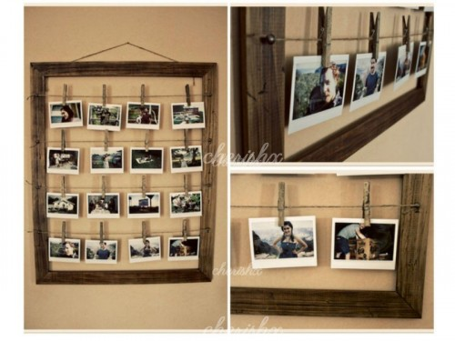 A wooden frame with a woody look to make it more attractive.