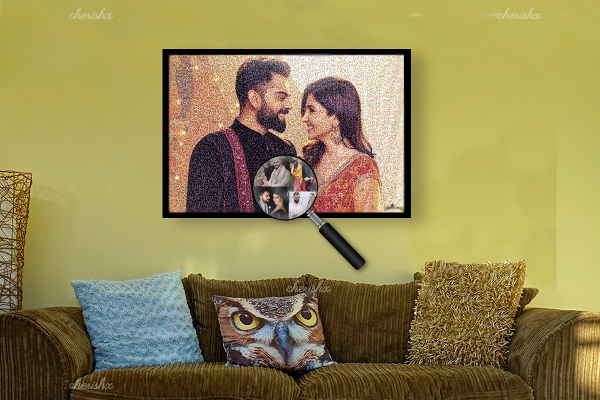 Have a beautiful picture framed of you and your partner just like Anushka Sharma and Virat Kholi in this frame.
