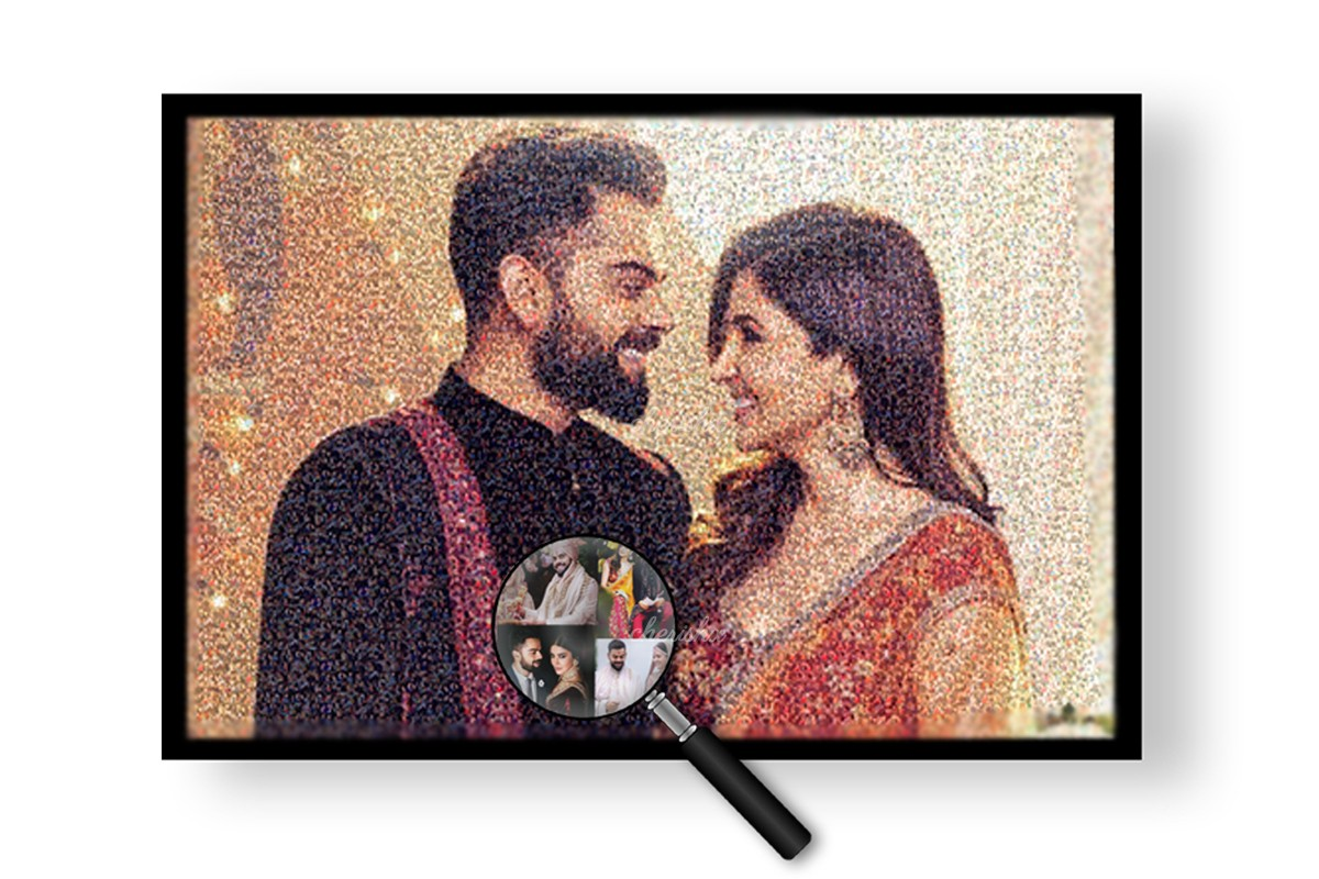 Anushka Sharma and Virat Kohli's picture of pictures to show you CherishX's product.