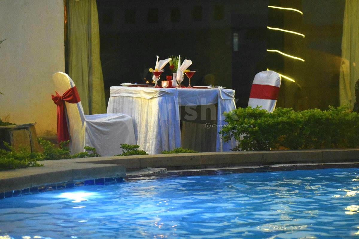 Anniversary Special Poolside Dinner at Koramangala, Bangalore