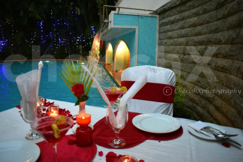 Table for 2 at the Poolside for a Romantic Dinner in Koramangala