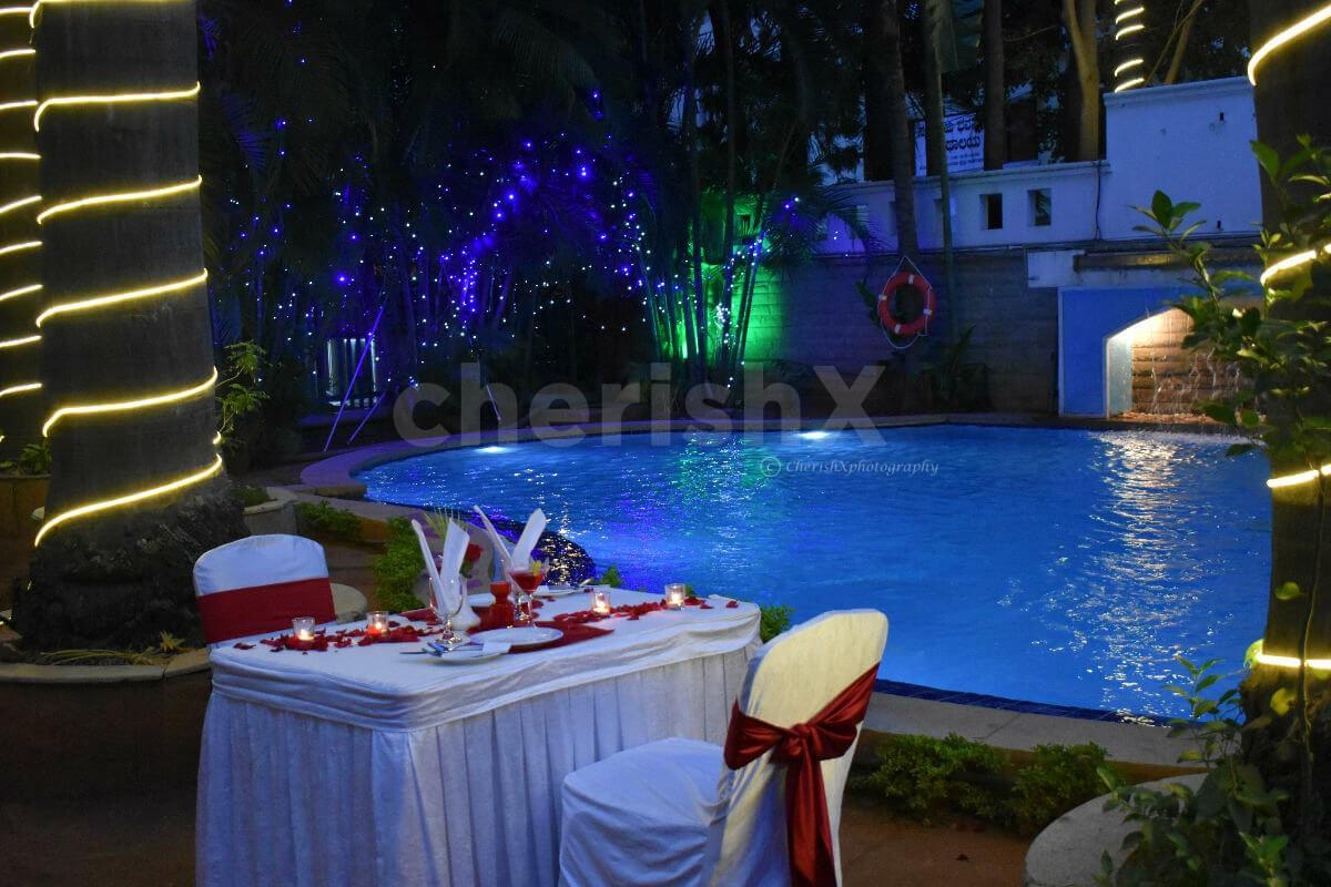 Romantic Poolside Candlelight Dinner in Koramangala