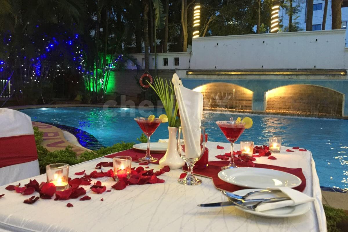 Romantic Poolside Dinner at Koramangala, 4th Block