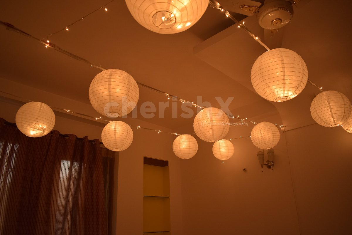 Illuminating Lantern Room Decoration for Birthday Surprise