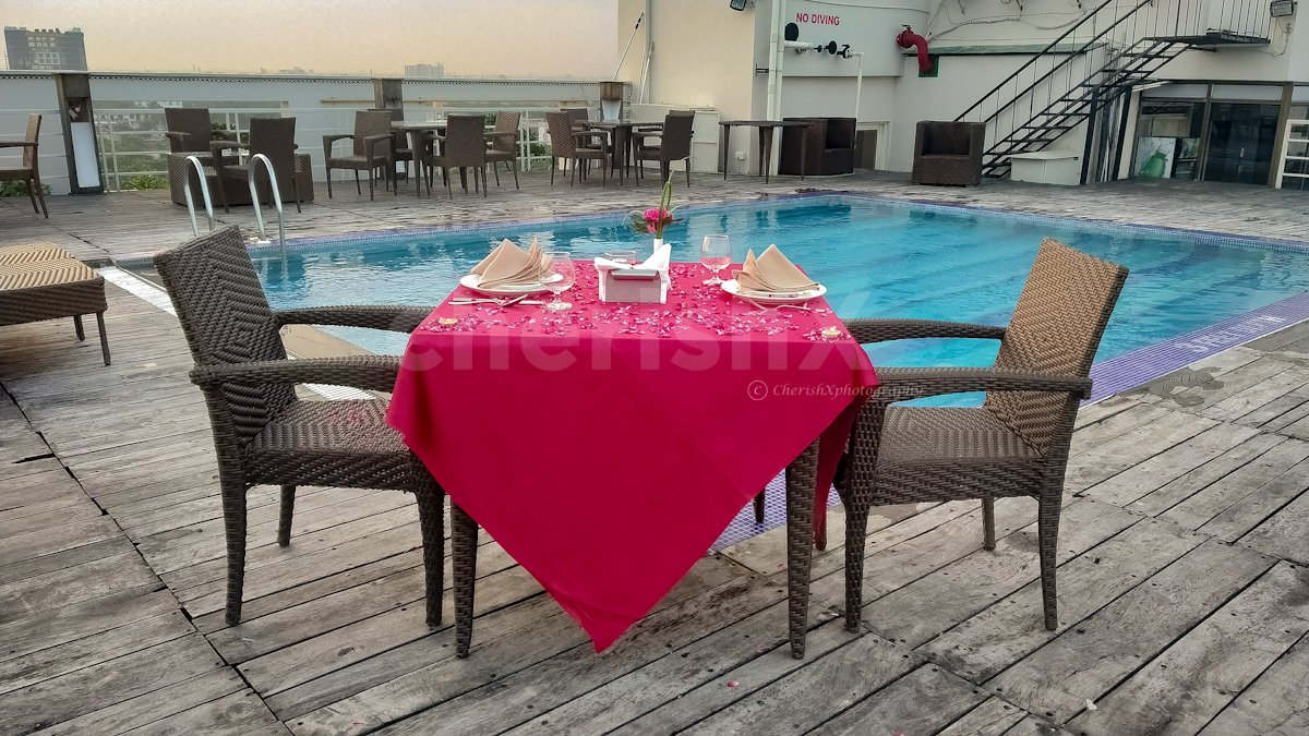 Poolside Rooftop Dining