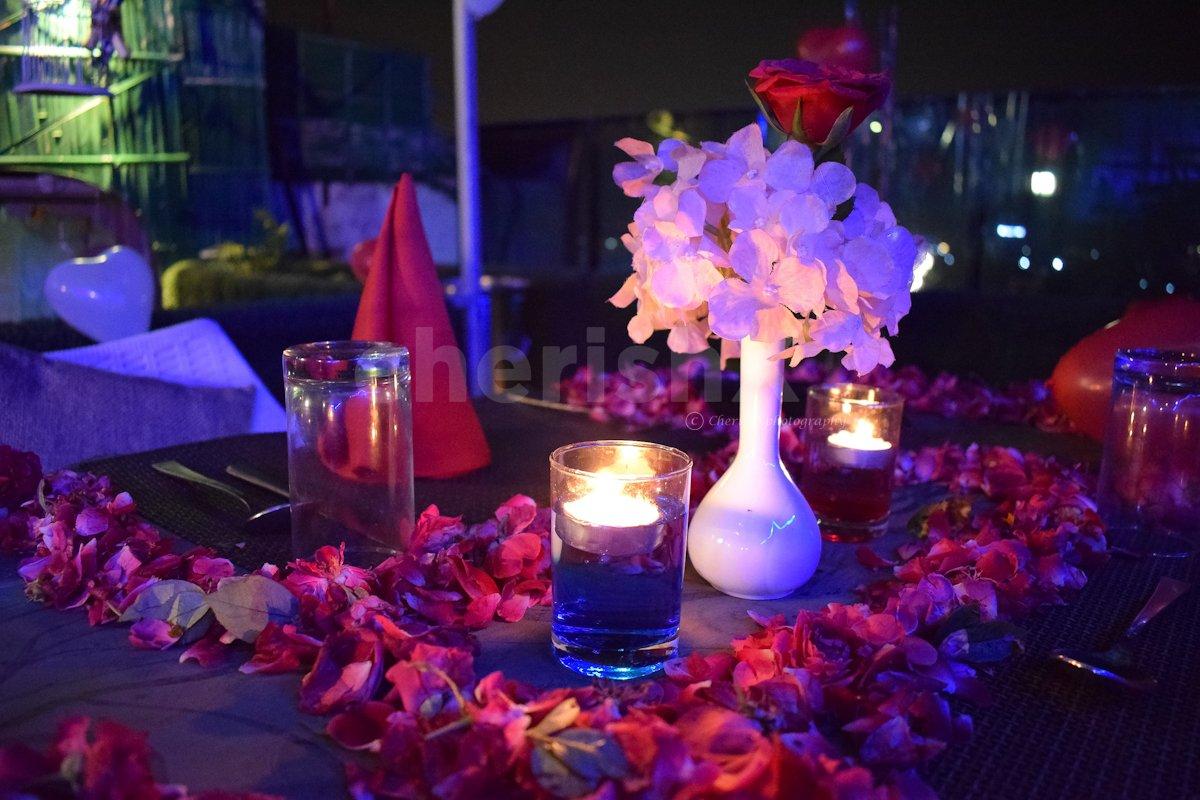 Candlelight dinner at Skydeck Jaipur