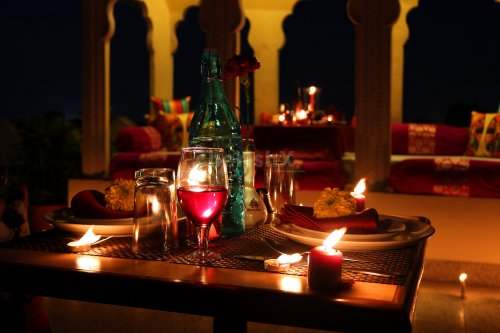 Romantic open air dinner