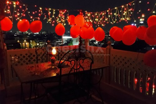 Romantic Rooftop Dining