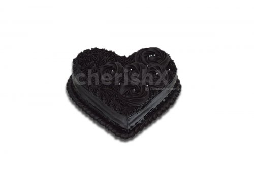 Heart- shaped Chocolate Truffle Cake
