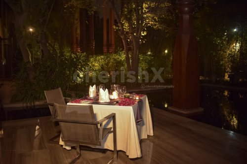 The Roseate outdoor candlelight dining