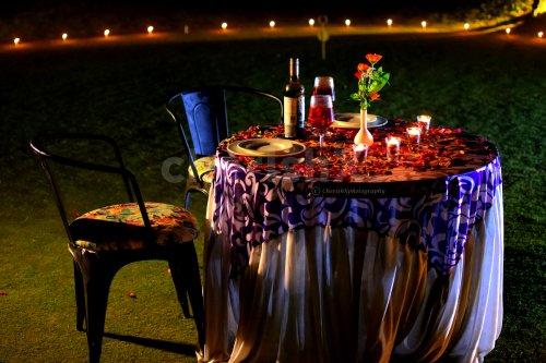 Romantic Open air dinner