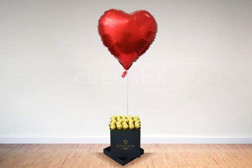 Chocolate Bucket with Helium Balloon