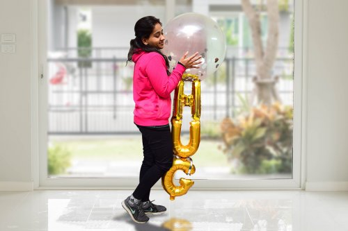 Send warm hugs with a bunch of balloons.