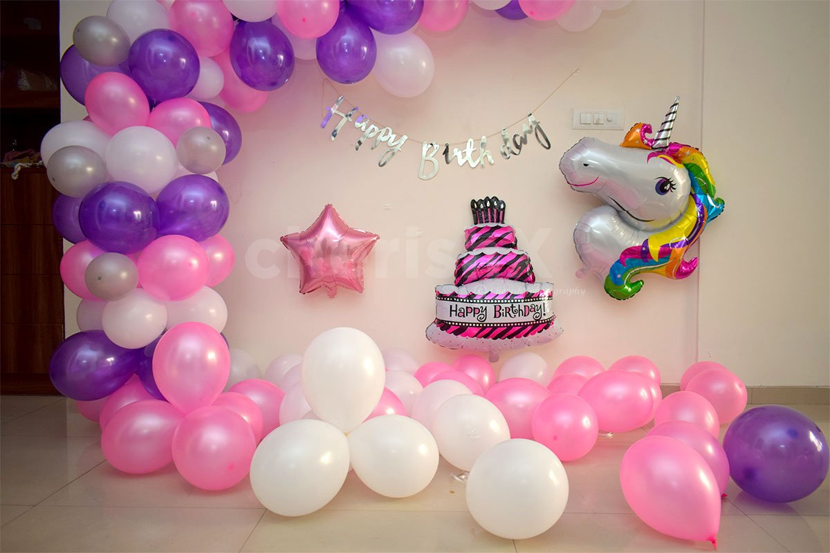 Pink, Purple and White Balloons Arc
