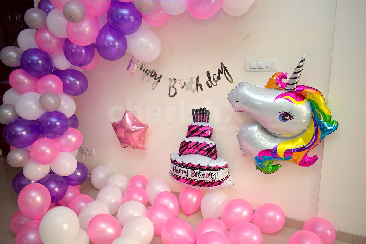 Surprise your Kid with this Unicorn Foil Balloon and Floating balloons on Birthday