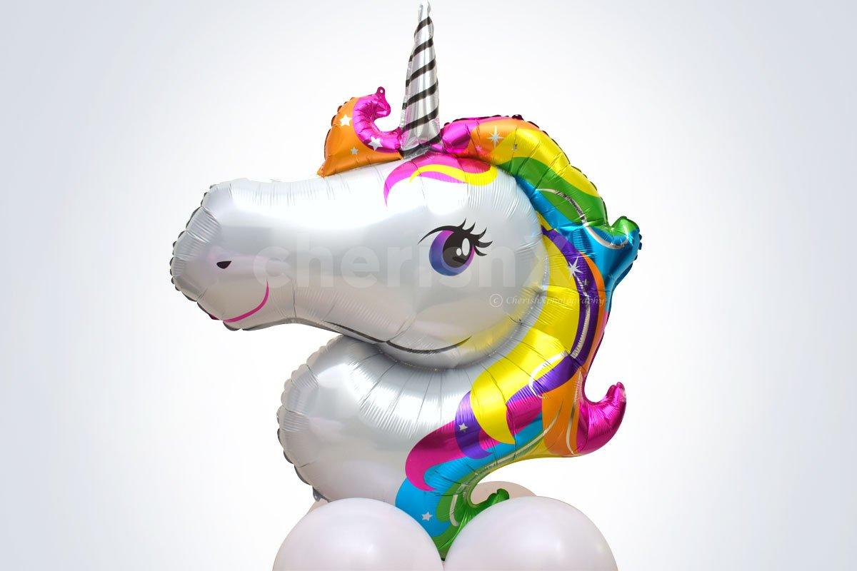 Big Unicorn Face Balloon