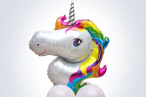 Big Unicorn Face Foil Balloon