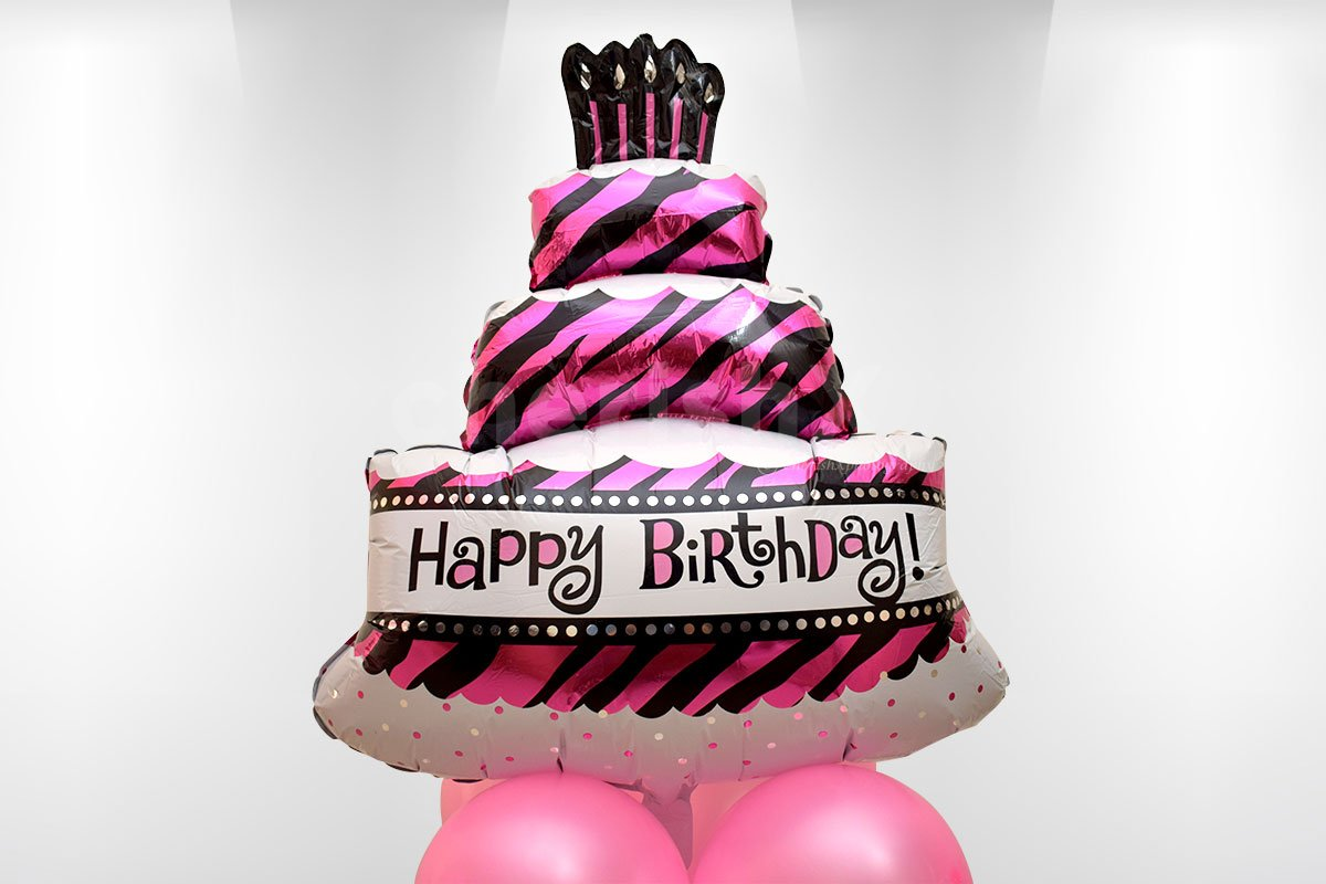Big Cake Happy Birthday Balloon
