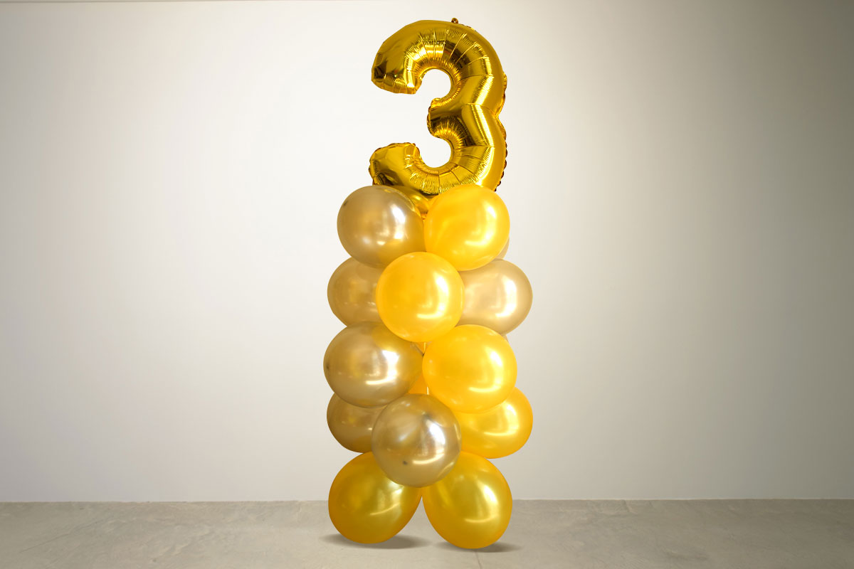 Add a number balloon pillar