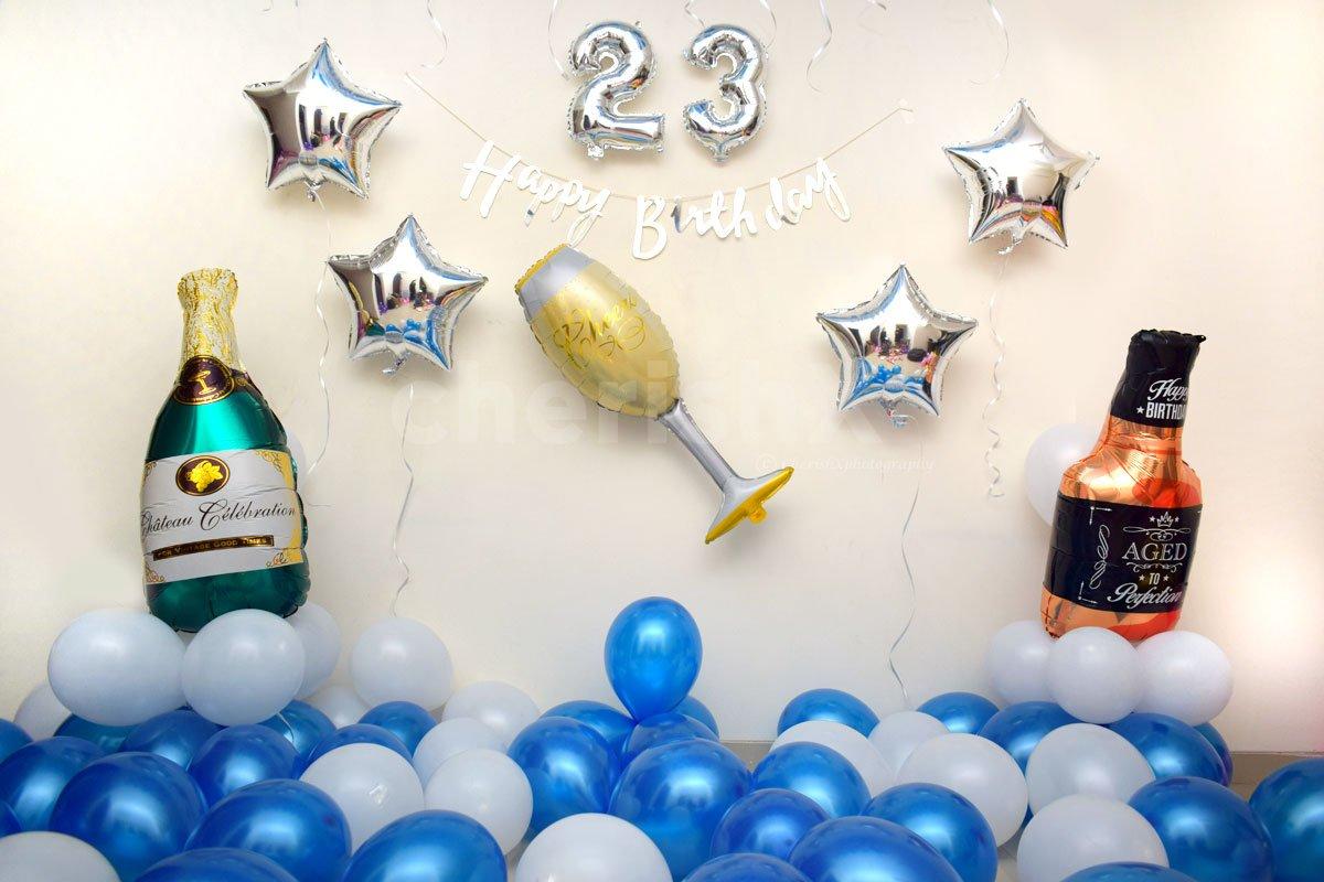 Celebrate Birthday with CherishX's Blue Birthday Balloon Decor.