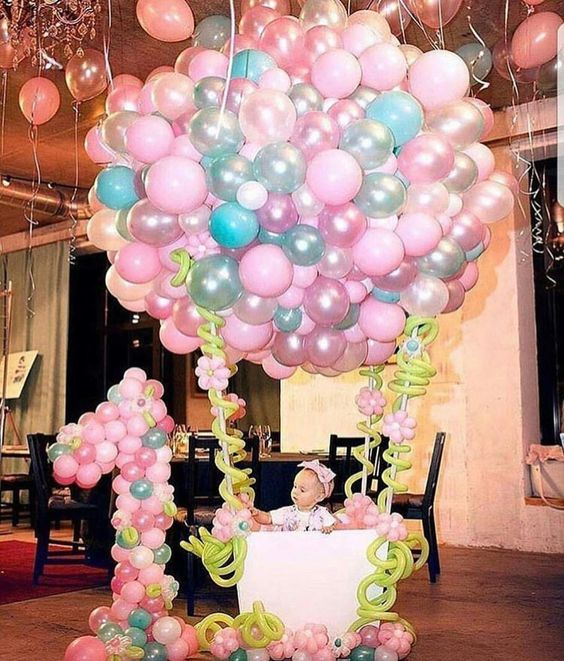 Baby shower hot air balloon Photo Booth