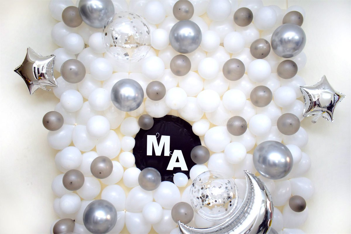 White & Silver Balloon Surprise