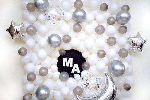 White & Silver Balloon Surprise