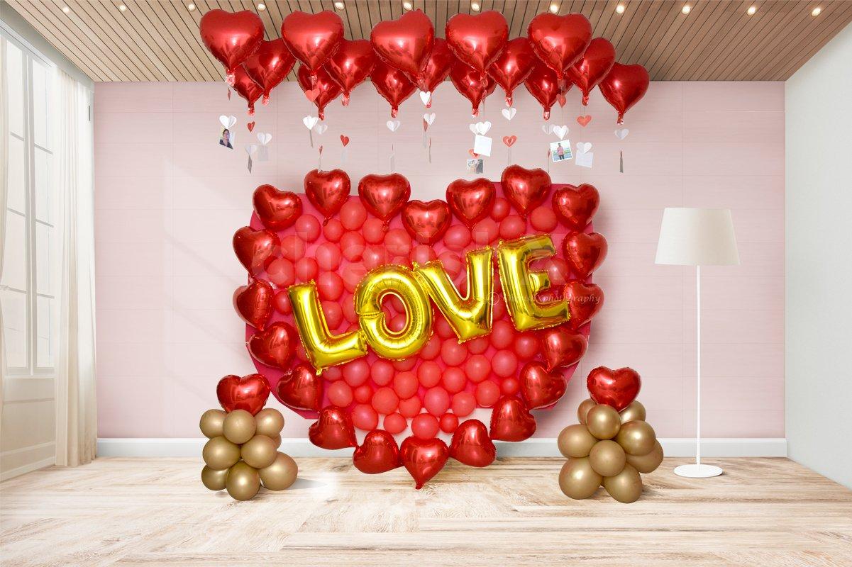 Romantic Proposal Balloon Decor