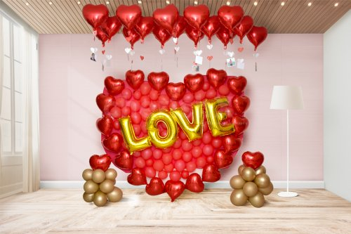 Hearty Balloon Wall