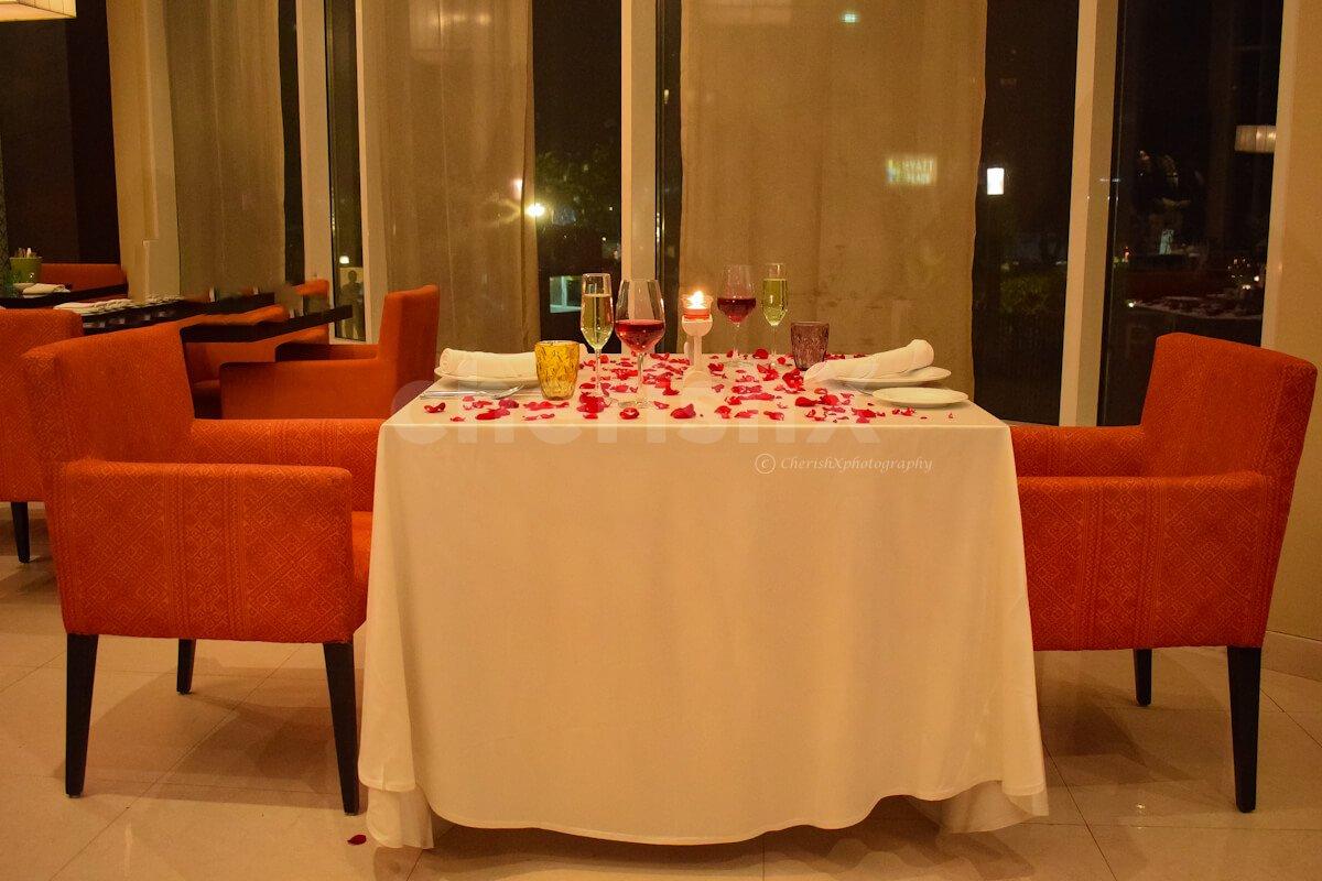 Hyatt Luxurious Indoor Dinner
