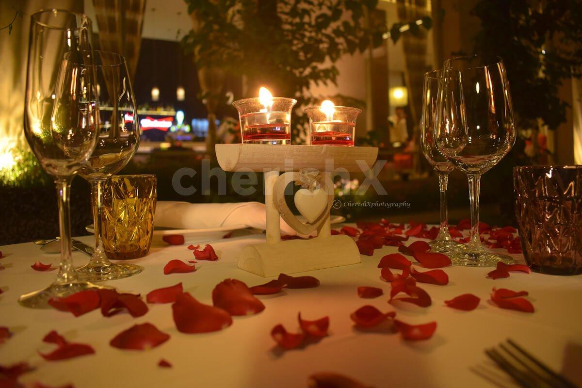 Couple's Outdoor Dining at Hyatt