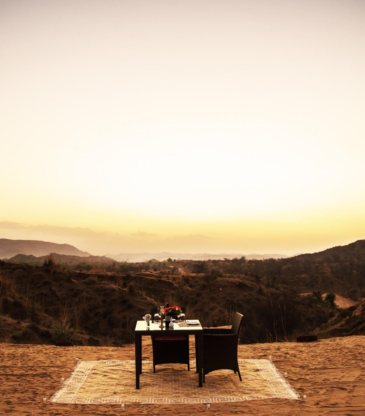 Dining Near the Dunes in Jaipur