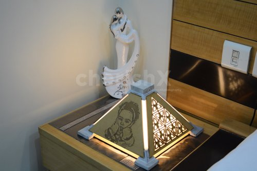 Pyramid Table Lamp