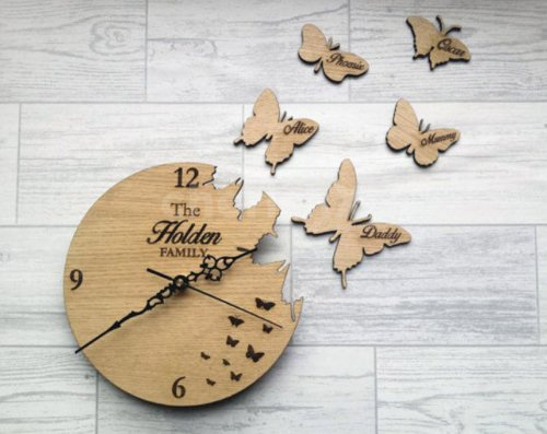 Personalised Wood Clock
