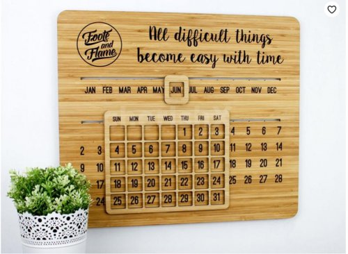 Movable Wooden Calendar