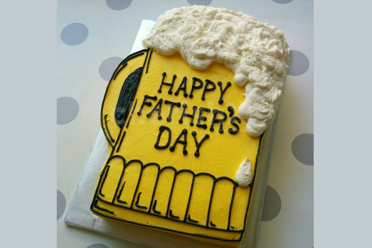 Fathers Day Beer Cake