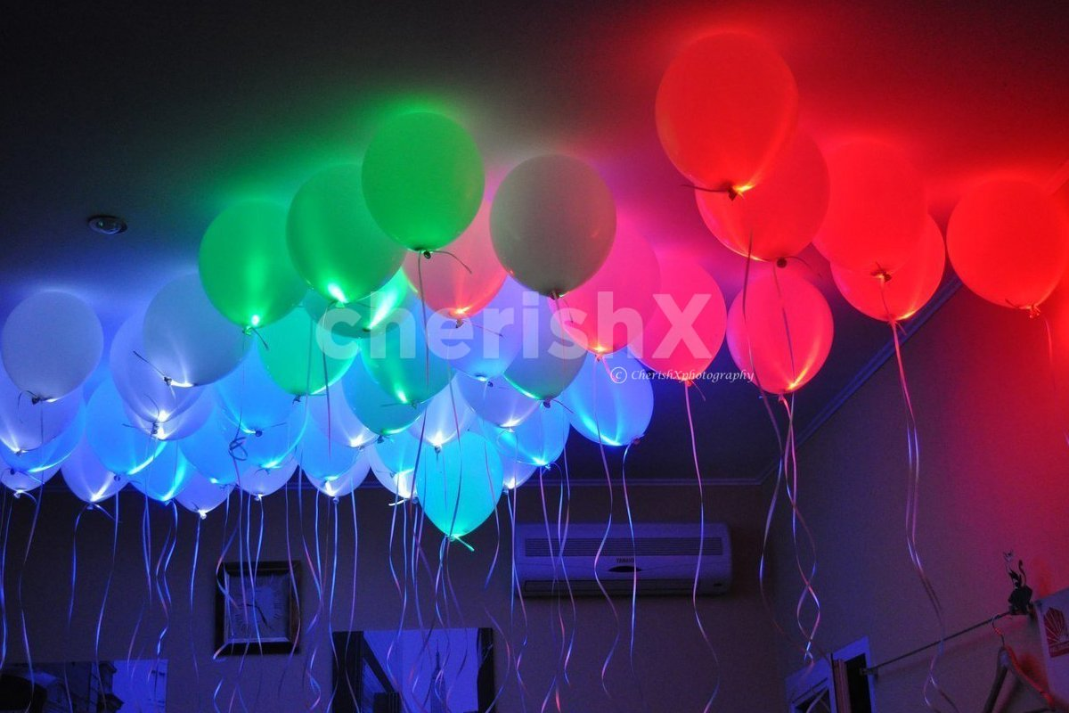 Glowing Balloon Decor