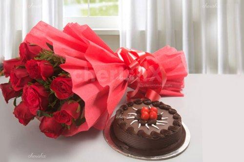 Cake & Flower Surprise