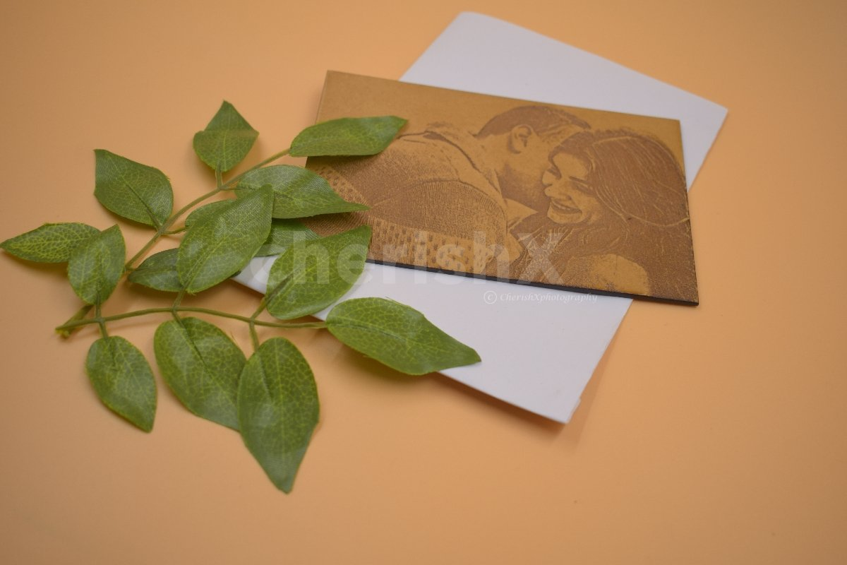 Wood Photo Card