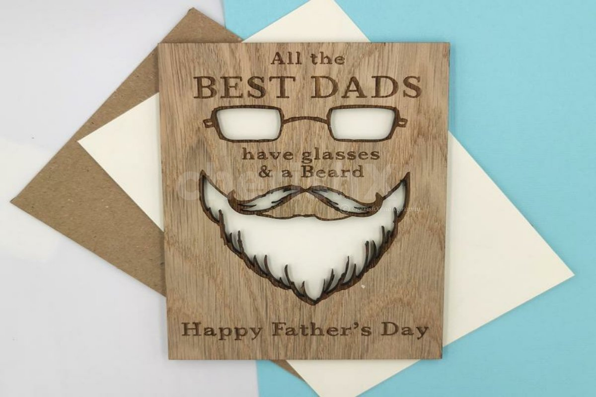 Wooden Card For Dad