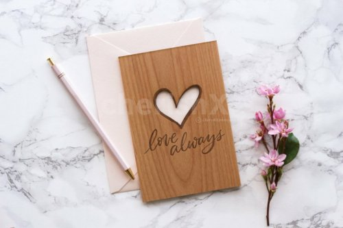 Wooden Love Card
