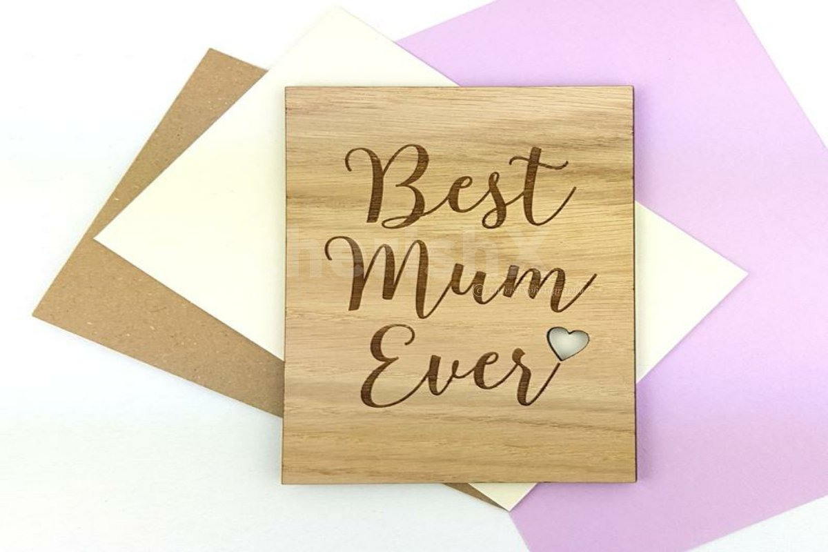 Wooden Card For Mom