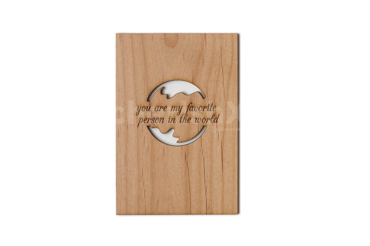 Wooden Favorite Person Card