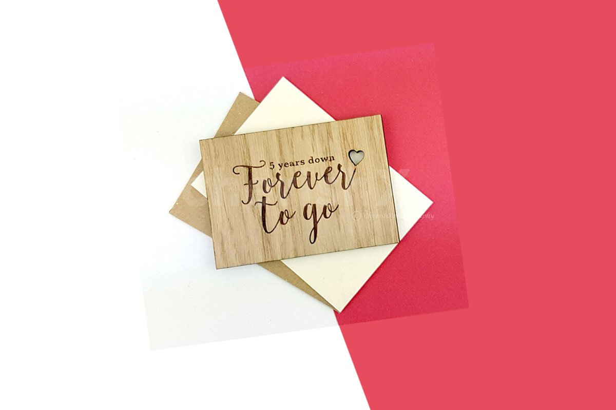 Wooden Forever To Go Card